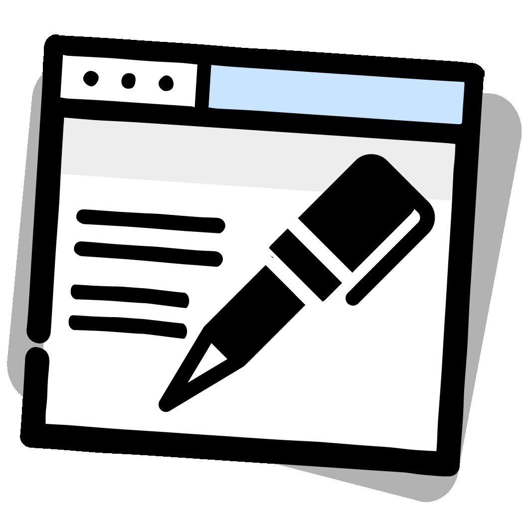icone redaction web